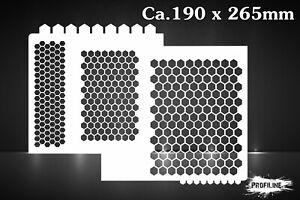 Waben-Muster-Airbrush-Schablone-Honeycomb-Stencil