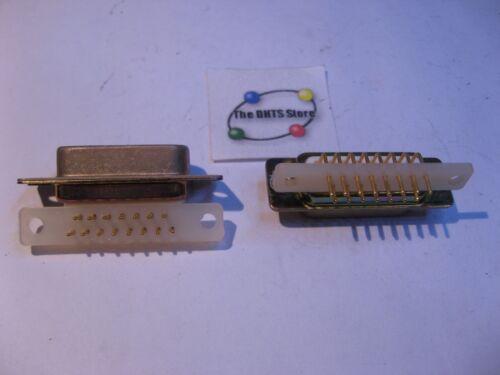 NOS Qty 2 D-Sub 15 Pin Male Right Angle PCB Connector ADI ADIN-21S-15P