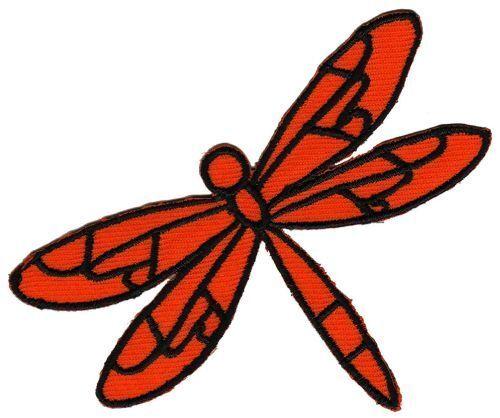 Bb81 Orange Libellule insectes écusson Bügelbild Patch Application Enfants Animaux