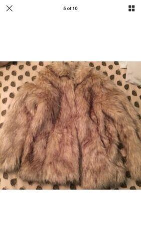 14 Rrp £ Fur Topshop 79 Beige Uk Jacket Faux F7w1nSgqO