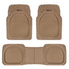 Flextough Shell Beige Rubber Floor Mats Heavy Duty Deep Channel For Car 3pc Set Fits 2003 Honda Pilot