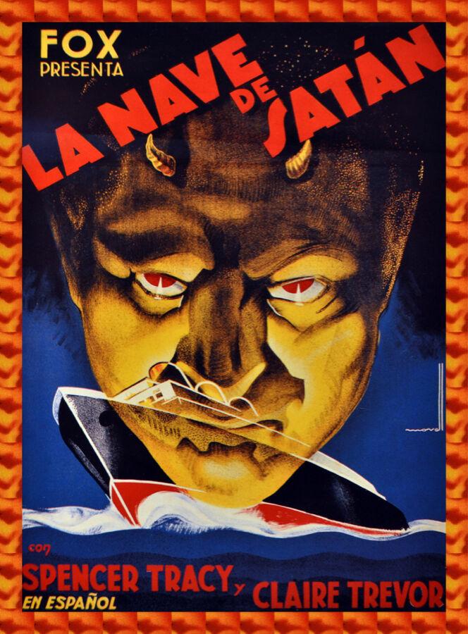Movie POSTER.Nave de Satan film.Spanish.Home Room wall decor art print.q631