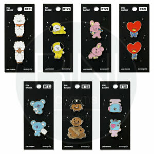 BTS-BT21-Official-Authentic-Goods-Pin-Badge-7Characters-By-Monopoly-Tracking