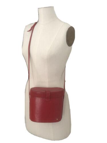 HALSTON Rare Vintage Red Binocular Crossbody Bag 1