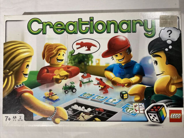 LEGO Games Creationary 3844 Used.  1 Playing Card Missing.