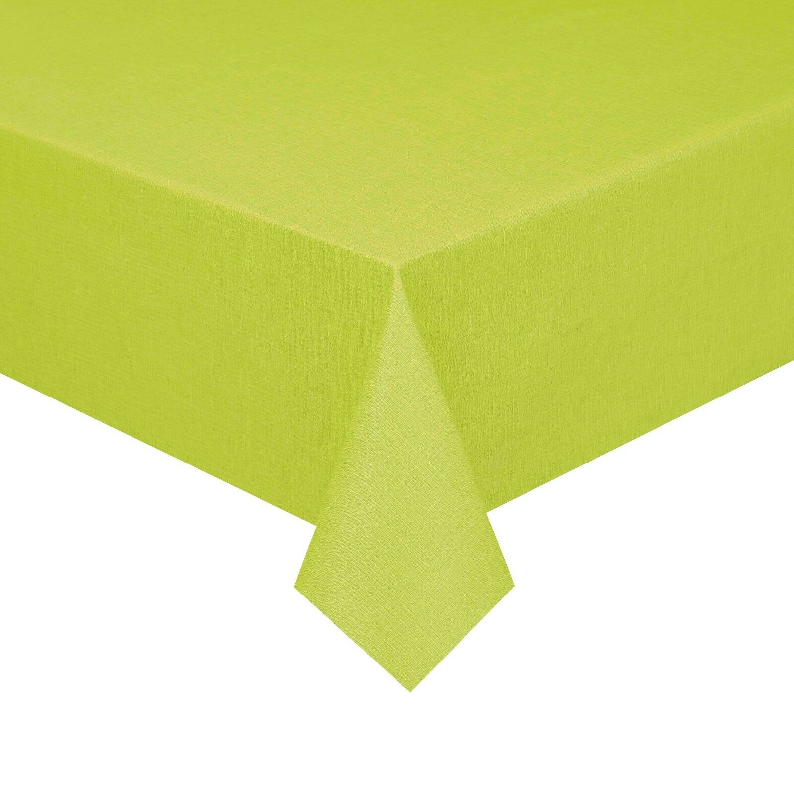 Pey Metraggio Stoffa tovaglia verde mela dimensione selezionabile Lino Struttura lavabile