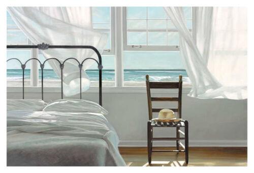 Karen Hollingsworth The Dream of Water Beach Chair Hat Ocean Print Poster 24x36
