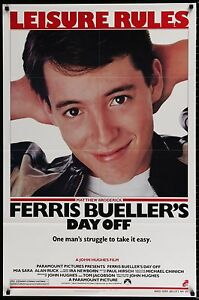 FERRIS BUELLER'S DAY OFF 1986 Movie Poster 27x41 • #MoviePoster #Comedy #80s
