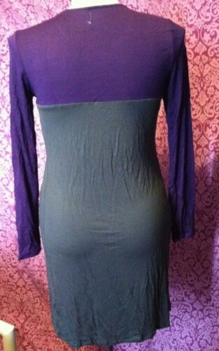 NWOT Liz Lange for Target Maternity Dress Tunic Color Block Knit Long Sleeve