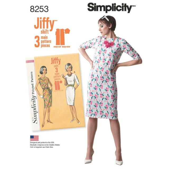 Simplicity Sewing Pattern Misses 60s Vintage Jiffy Shift Dress Impressive Shift Dress Sewing Pattern