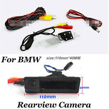 Car HD Rearview CCD License Plate Light Hole Camera Kit for BMW with Signs Line