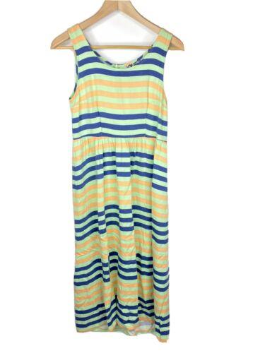Dusen Dusen Dress Size 0 Womens Navy Green Stripe