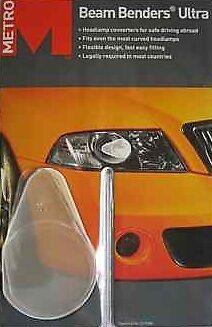 Headlamp Beam Super Beam Benders For Driving in Europe HG129 * 3 Packs of