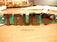 Bcbg True Heart 100% Auth Affirmation Bracelet Green Croc /gunmetal