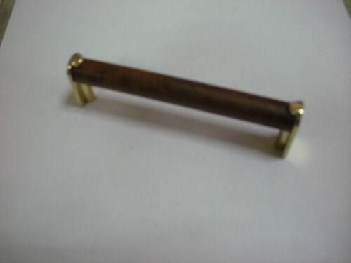 Maniglietta maniglia per mobili color legno ottone lucido cm 10 F509 Fusital 50/%