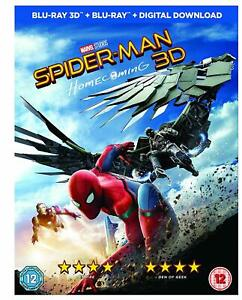 Spider-Man-Homecoming-2D-3D-BLU-RAY-REGION-FREE-NEW-amp-SEALED-FAST-UK-DISPATCH