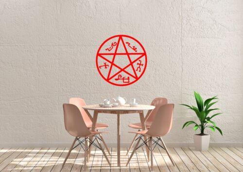 Supernatural Devil/'s Trap Inspired Design Home Wall Art Decal Vinyl Sticker