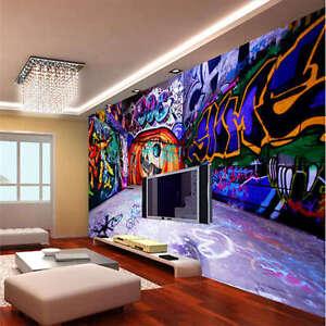 Music Graffiti Seven Full Wall Mural Photo Wallpaper Print Home Kids