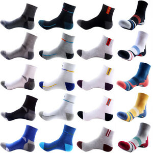 5-Pairs-Mens-Cotton-Crew-Socks-Lot-Sports-Casual-Ankle-Basketball-Running-Socks
