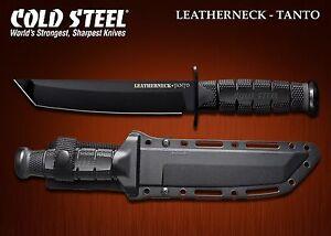 Couteau Tactical Cold Steel Leatherneck Tanto Lame Acier