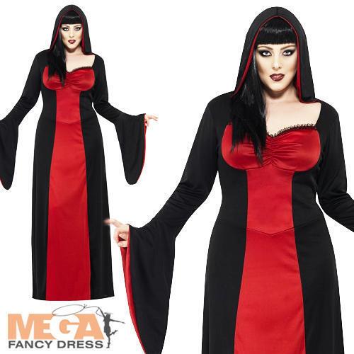 Tentatrice Vampiro Taglie Forti Costume Halloween Donna Horror Costume Da Donna