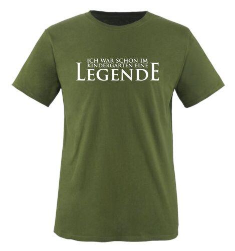 Herren T-ShirtSpruch Motiv KINDERGATEN LEGENDE Comedy Shirts