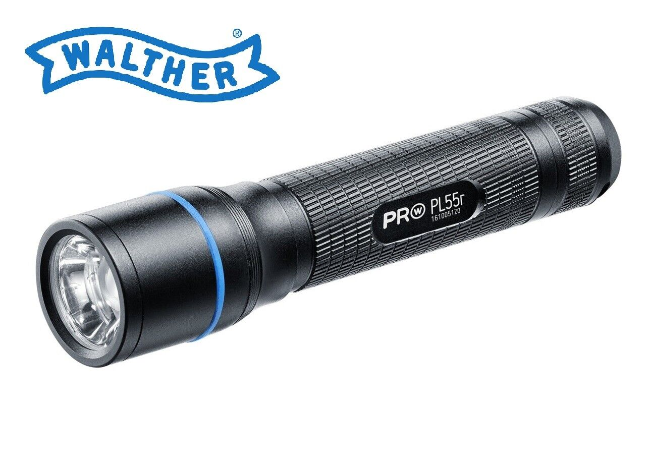 Walther Pro PL55R LED Flashlight 650 Lumens Hunting Torch + Charger and Battery