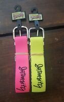 Intensity Softball One Size Stretch Belt Womens Lot Of 2 - Pink And Neon