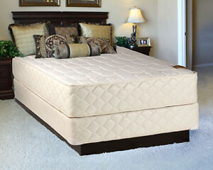 comfort pedic extra firm eurotop queen size mattress and boxspring set ebay. Black Bedroom Furniture Sets. Home Design Ideas