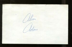 Alvan Adams Signed Index Card 3x5 Autographed Suns Sooners 56060