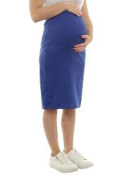 Umstand Rock Midi Bleistiftrock Stretch Schwangerschaft Bauch