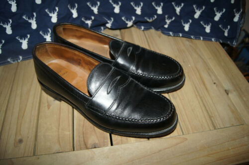 ALDEN 10.5  BLACK SHELL CORDOVAN LOAFERS SHOES  PE