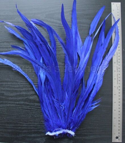 """25pc 16-18/"""" Long Bleach-Dyed Rooster COQUE tail Feathers16 colors to pick from"""
