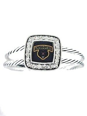 Free Shipping! Officially Licensed Baylor University Bears Crystal Cuff Bracelet
