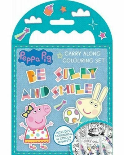 Peppa Pig Reusable Stickers Colour In Sheets Crayons Pencils Bookmarks /& More