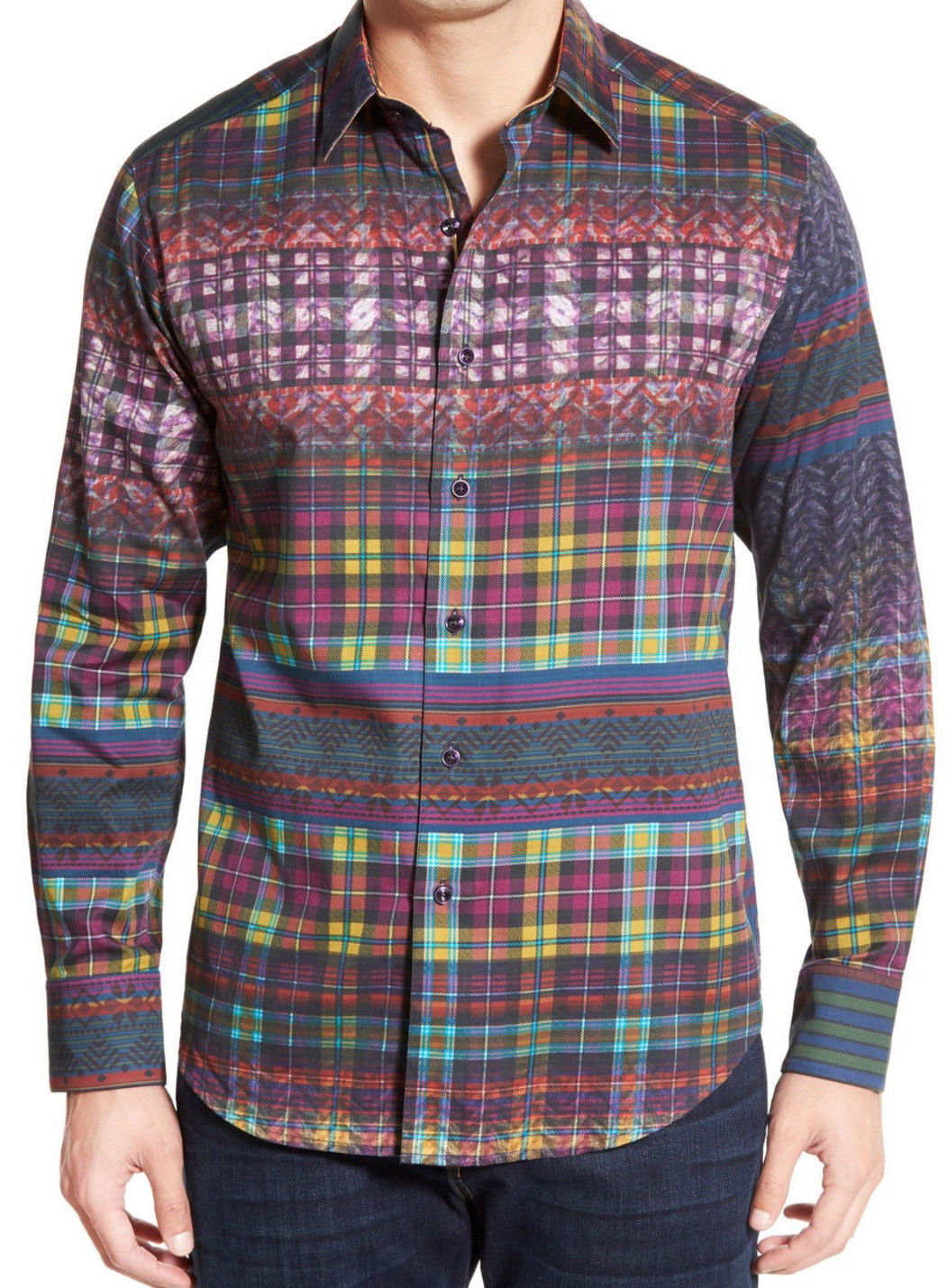 Robert Graham 'Kilt' Tartan Print Sport Shirt, Cotton, L S, XL,  NWT