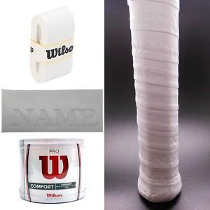 Wilson-Tennis-Racket-Grip-Overgrip-Pro-Comfort-PERSONALISED-CUSTOMISED-Gift-UK