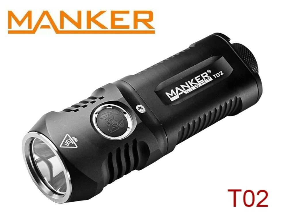 New Manker T02 (White) Cree XHP35 1500LM LED Flashlight Torch ( AA, 14500 )