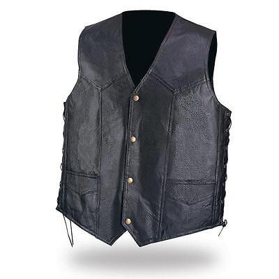 """Gilet jacket en cuir /"""" Simple modèle /"""" Grande taille { S à 7XL }  biker country"""