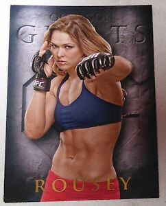 Ronda Rousey 2014 Topps UFC Champions Octagon Greats Insert Card 157 168 184 190