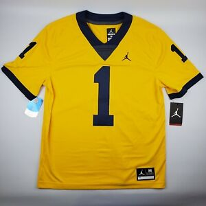 meet 0f08a 8250a Details about Michigan Wolverines Jordan Limited Football Jersey #1  Stitched Maize Blue Nike