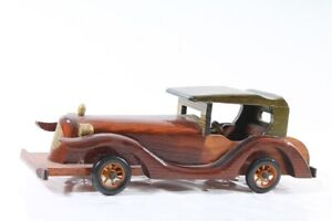 Old-Car-Wood-Toy-Collector-Cabinet-Old-Vintage-Classic-Car-Decor