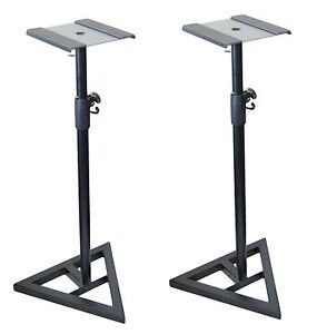 2x-Ignite-Heavy-Duty-Near-Field-Studio-Monitor-Speaker-Stands-Adjustable-Pair