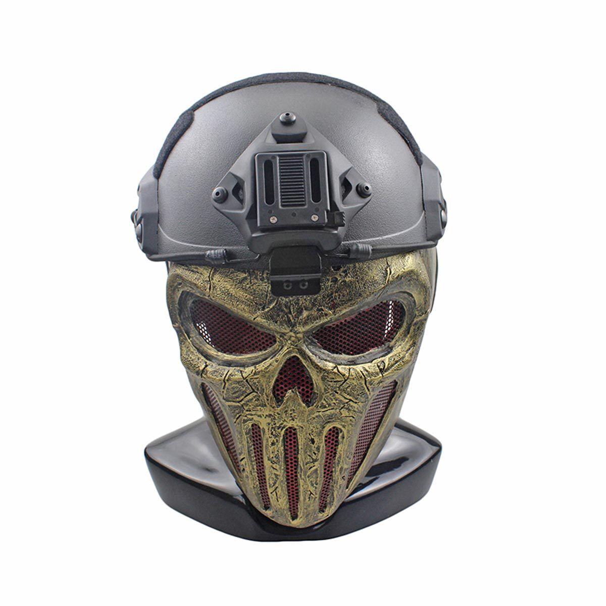Handmade Wire Mesh Glass Fiber Resin Airsoft CS Half Face mask For Helmet M115