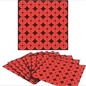 2.5cm ADESIVI TARGET 900 Diameter//25 fogli di carta Rosso Neon obiettivi Caccia Sparare