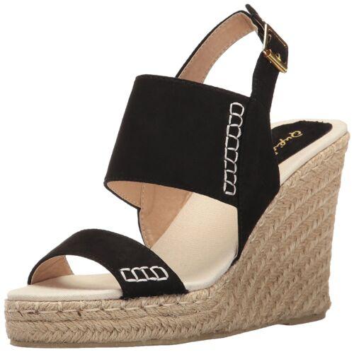 Women/'s Slingback Stitched Espadrille Platform Wedge Sandals Knox-01xx By Qupid