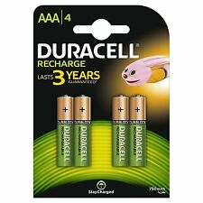 Pack of 4 Duracell AAA 750mAh Rechargeable Ultra Batteries NiMH LR03 HR03 DX2400
