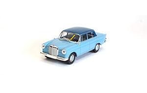13357-Brekina-Mercedes-190c-W110-hell-blau-dunkel-blau-1-87