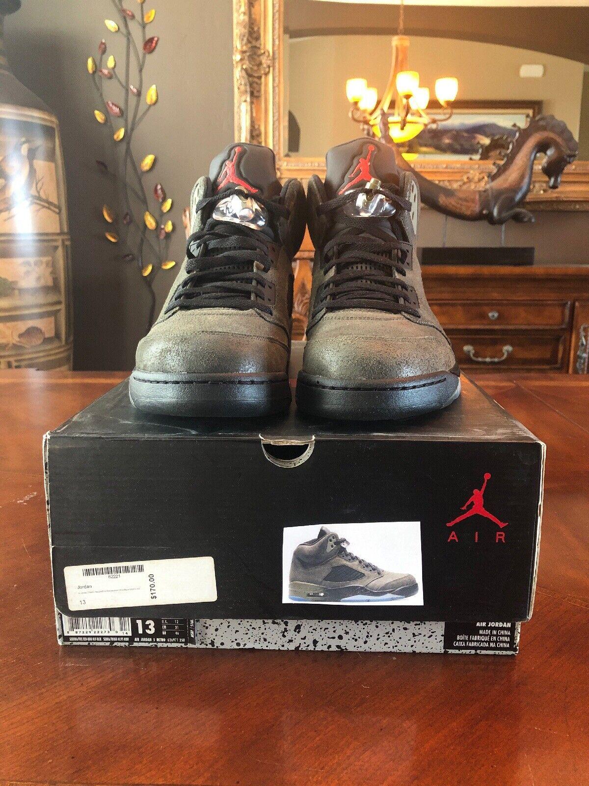 2013 Nike Air Jordan 5 V Retro Fear Size 13. 626971-350 1 2 3 4 6 VVVVNDS