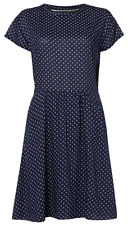 DICKINS & JONES Diamond Printed Dress with Waist Tie Navy size18 - Brand New